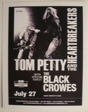 Concert poster from Tom Petty and The Heartbreakers - Merriweather Post Pavilion, Columbia, MD, USA - 27. Jul 2005