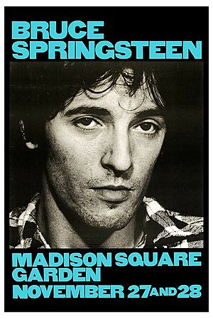 Concert poster from Bruce Springsteen - Madison Square Garden, New York, NY, USA - 27. Nov 1980