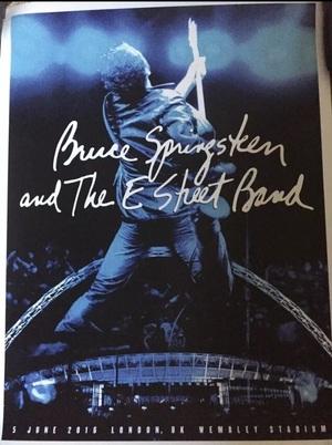 Concert poster from Bruce Springsteen - Wembley Stadium, London, United Kingdom - 5. Jun 2016