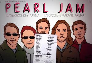 Setlist photo from Pearl Jam - Key Arena, Seattle, WA, USA - 6. Dec 2013