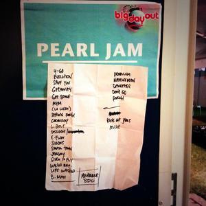 Setlist photo from Pearl Jam - Flemington Racecourse, Melbourne, Australia - 24. Jan 2014